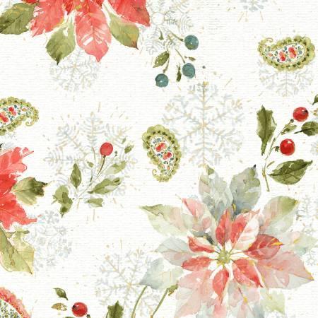 Magic of the Season: White Flowers & Paisleys