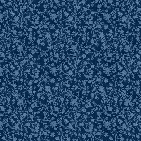 Summertime Blue Twined Floral