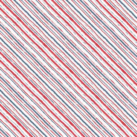 Summertime White Diagonal Stripes