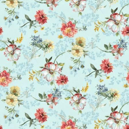 Blue Tossed Floral 86453-473