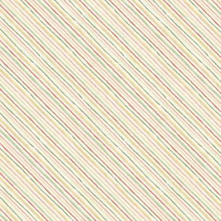 Wilmington Sketchbook Garden 86457-175 Cream Diagonal Stripe
