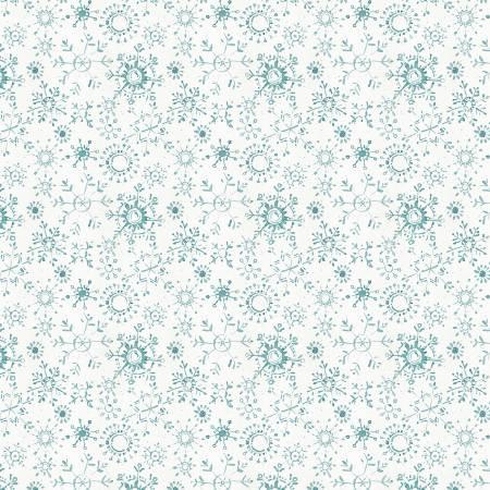 A Magical Christmas-White/Blue Snowflakes