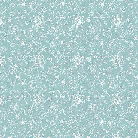 A Magical Christmas - Blue-White Snowflakes