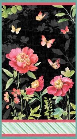 Multi Pink Garden Large Panel 86468-937