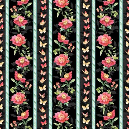 Multi Pink Garden Repeating Stripe