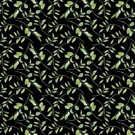 Black Leaves Allover