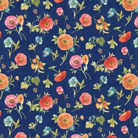 Blue Floral Toss 86482 487