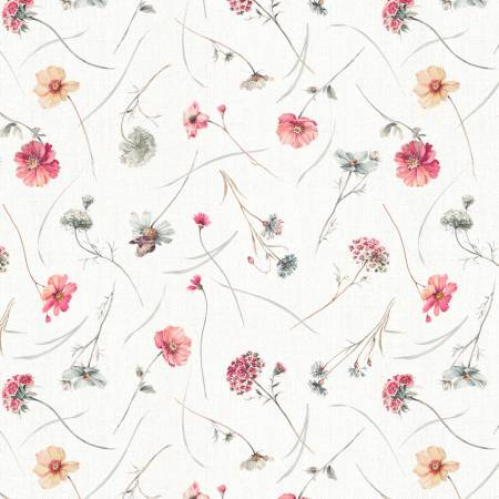 A Country Weekend - Wildflower Toss Ivory  86491-132