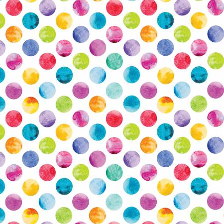 All About Color - White Watercolor Dots