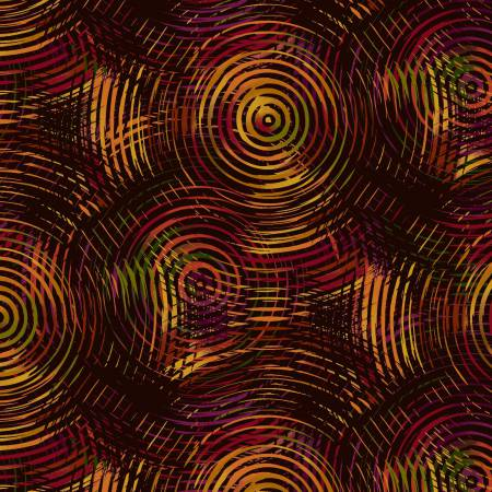 Autumn Ombre Colored Circles 108in Wide Back