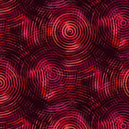 Red Tones Ombre Colored Circles
