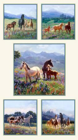 Cream Wildflower Trails Panel