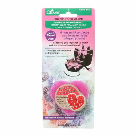 Clover Quick Yo-Yo Maker Heart Shaped Small