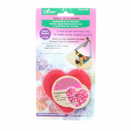 Clover Quick Yo-Yo Maker Large Heart Shaped