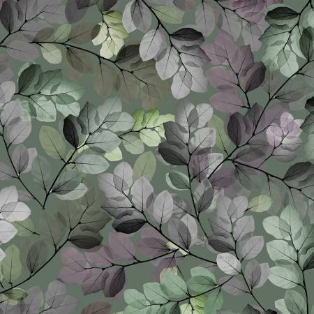 Essence of Pearl Green Sheer Leaves Pearlized