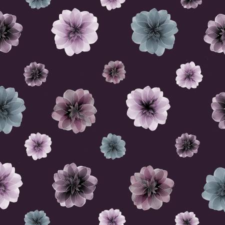 Essence of Pearl Purple Floating Blossoms Pearlized