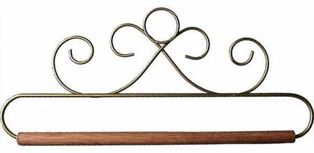 8in Gold French Curl Hanger