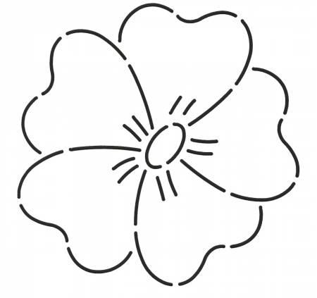 Quilt Stencil Flower 5in