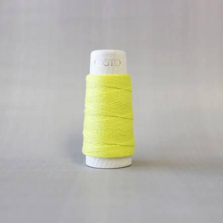 Cosmo Hidamari Sashiko Solid Thread 30 Meters Lemon