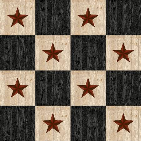 Star Check Black