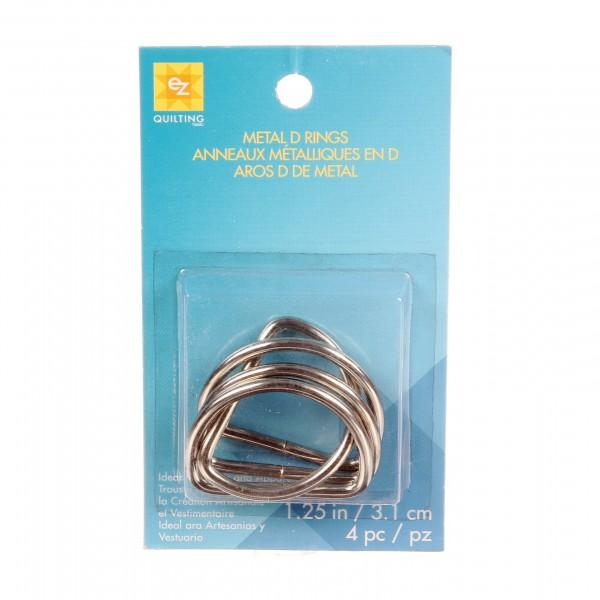D Rings Metal 1-1/4in 4ct Nickel