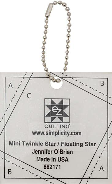 Mini Twinkle star/Floating Star Ruler & pattern