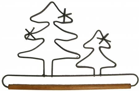 Evergreen Hanger With Stained Dowel Silver