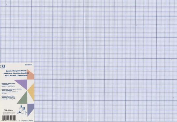 Gridded Plastic Template Sheet 12in x 18in