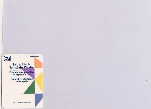 Extra Thick Blank Plastic Template Sheet 14in x 20in