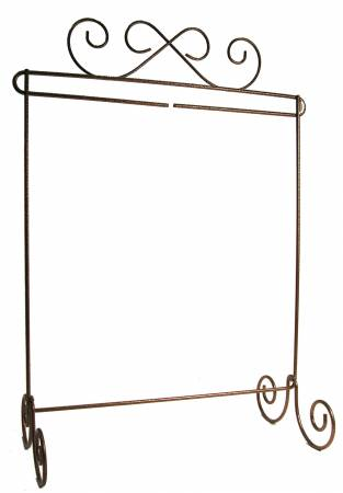 6in x 12in Scroll Single Stand Copper