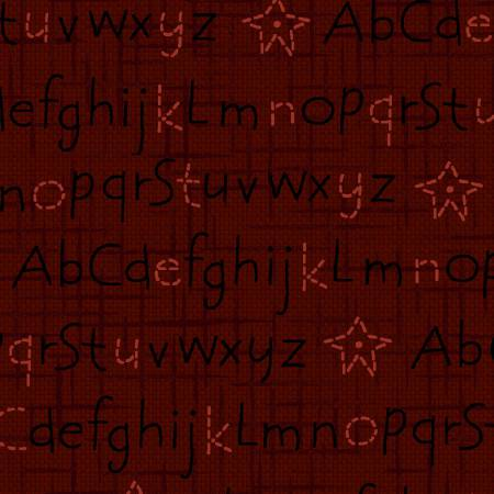 Dark Red Alphabet