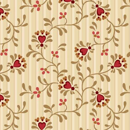 Berries & Blossoms Cream Heart Flower 8835-44