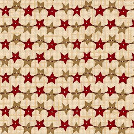 Berries & Blossoms Cream Star Strands 8837-44