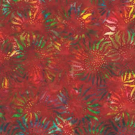 Red Bali Sunflower Batik