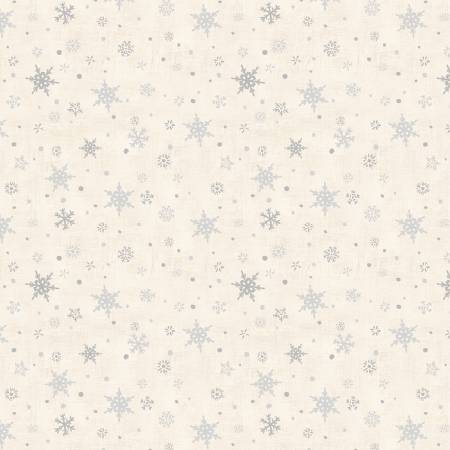 Holiday in the Woods Cream Snowflakes