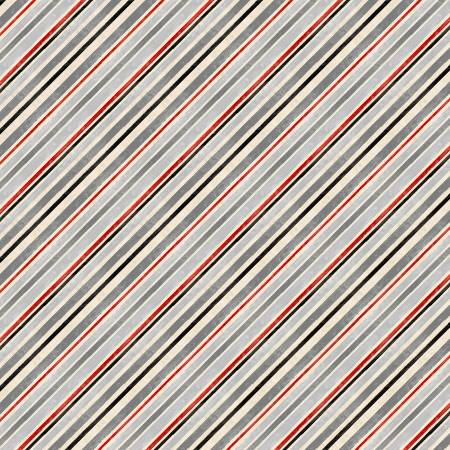 Holiday in the Woods Red Diagonal Stripe
