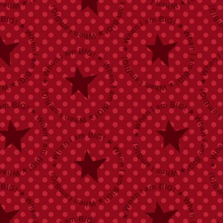 When I am Big  Circle Star-Red