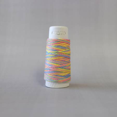 Cosmo Hidamari Sashiko Variegated Thread 30 Meters Rainbow Sorbet