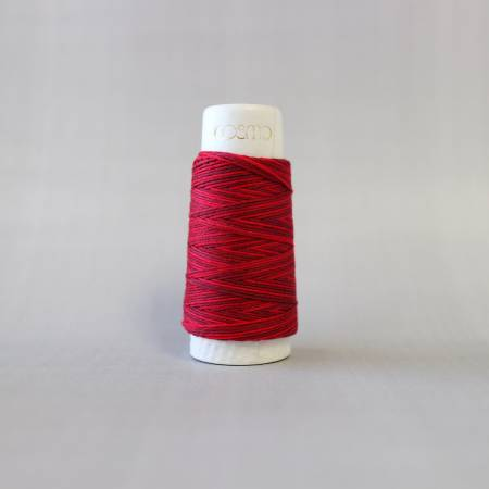 Cosmo Hidamari Sashiko Variegated Thread 30 Meters Cranberry Red