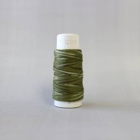 Cosmo Hidamari Sashiko Variegated Thread 30 Meters Forest Moss