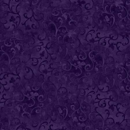 Dark Eggplant Scroll