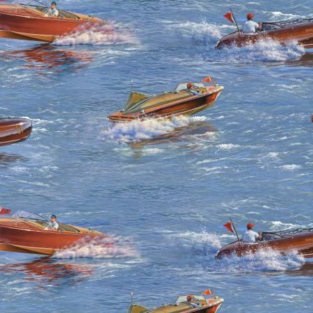 Blue Classic Boats Allover