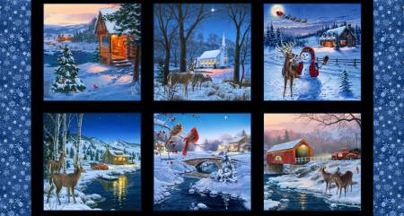 Black Country Christmas Panel with 10-3/4in blocks
