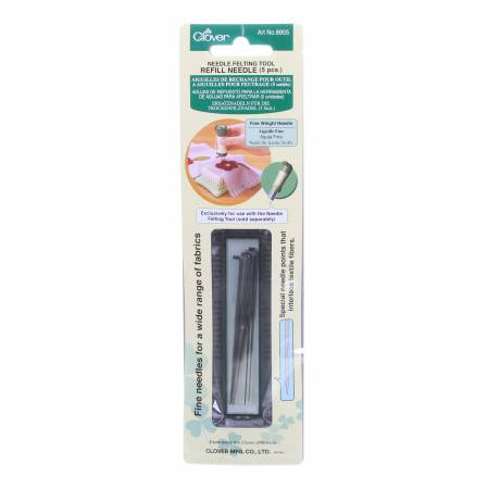Clover Felting Needle Refill Fine Weight 5pc