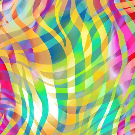 Henry Glass Pastel Bright Zebra Skins Digitally Printed 108in Wide Back