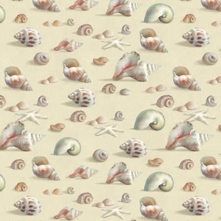 Light Taupe Seashells Allover