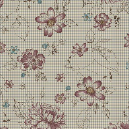 Grey Check Flowers