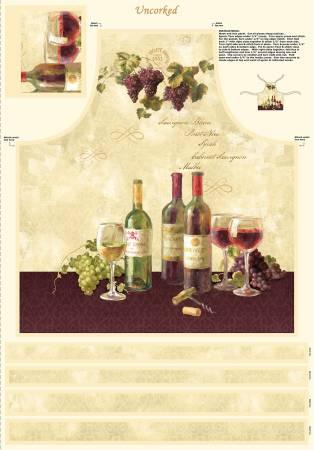 Multi Uncorked Apron & Placemats Panel