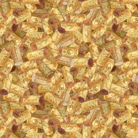 Golden Corks Allover