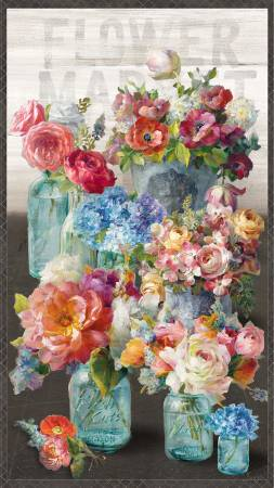 Multi Flower Market Large Panel